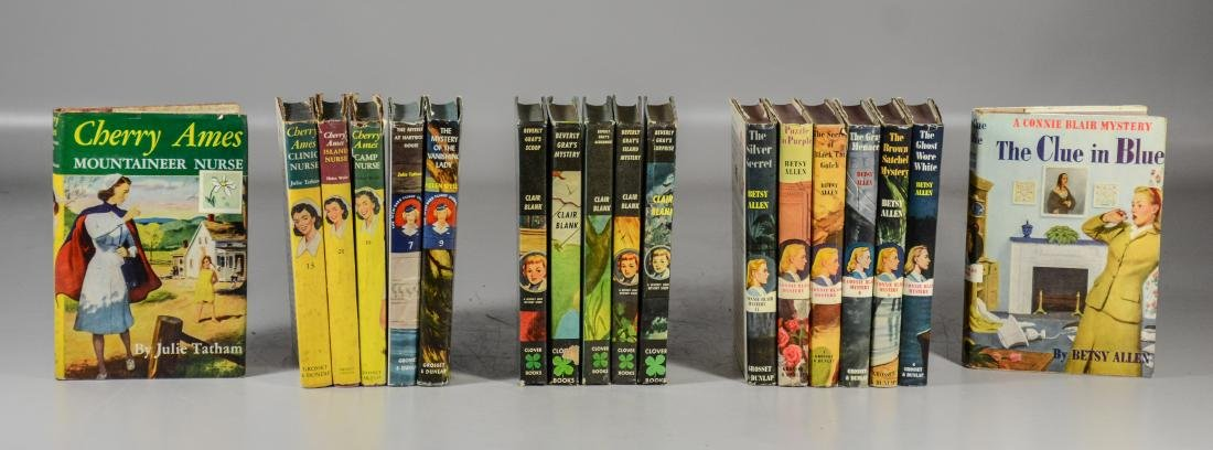 Lot of 18 young adult books, including 7 Connie Blair