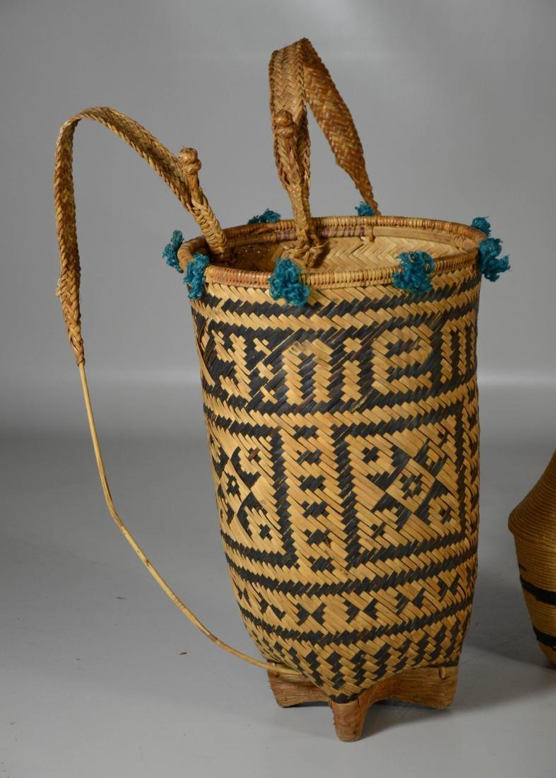 Rwanda African primitive baskets; Vietnamese Backpack - 2
