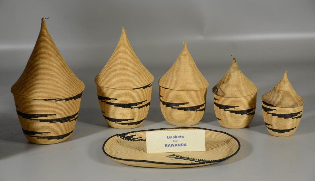 Rwanda African primitive baskets; Vietnamese Backpack - 3