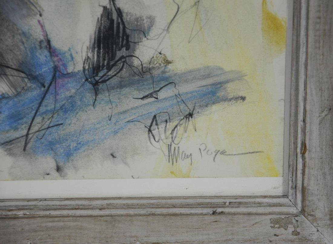 Mary Page Evans, VA, 20th c, w/c & pencil, abstract, - 3