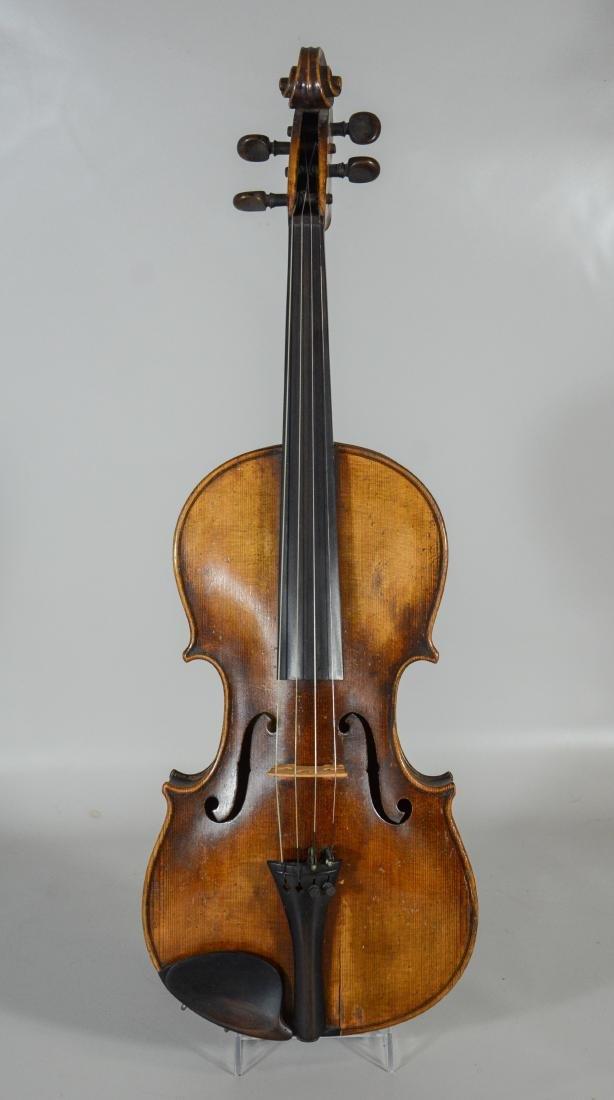 After Amati violin, spruce top, 2 pc figured maple