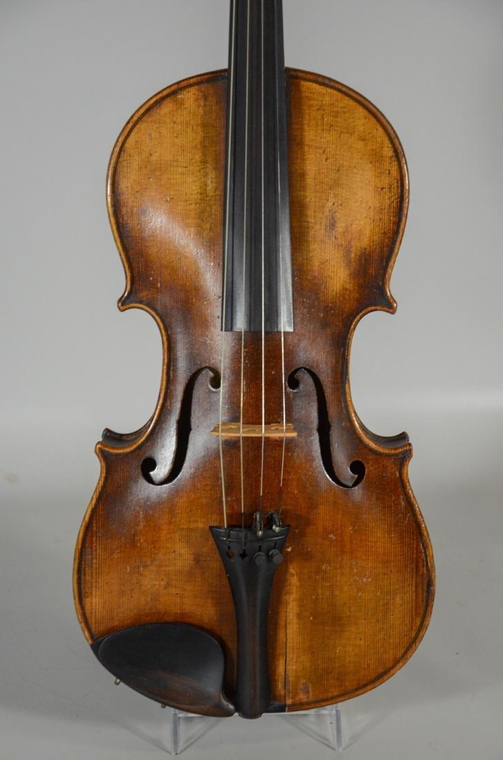 After Amati violin, spruce top, 2 pc figured maple - 2