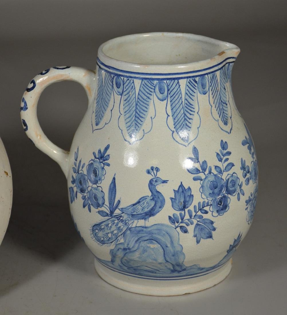 """Early Delft plate, tin glazed, 9"""" d;  with a Delft - 4"""