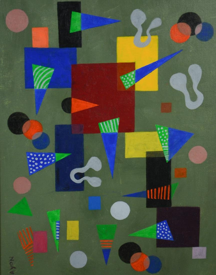 Seymour Zayon (American, PA, b 1930), abstract oil on