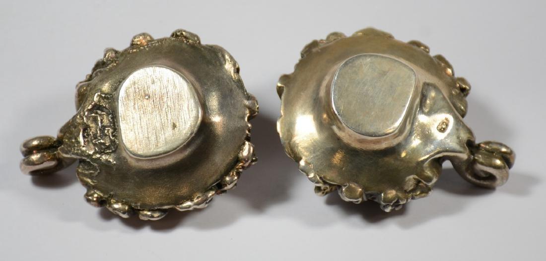 Pr sterling silver miniature fruit cornucopia candle - 4