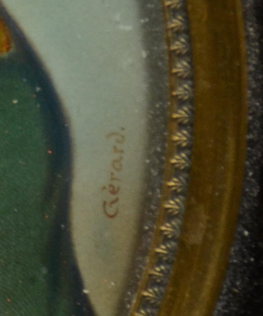 Oval miniature portrait of Napoleon on ivory, 19th c, - 3