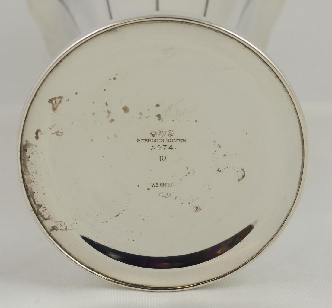 Early 20th c Watson Sterling Silver Dublin Pattern Vase - 2