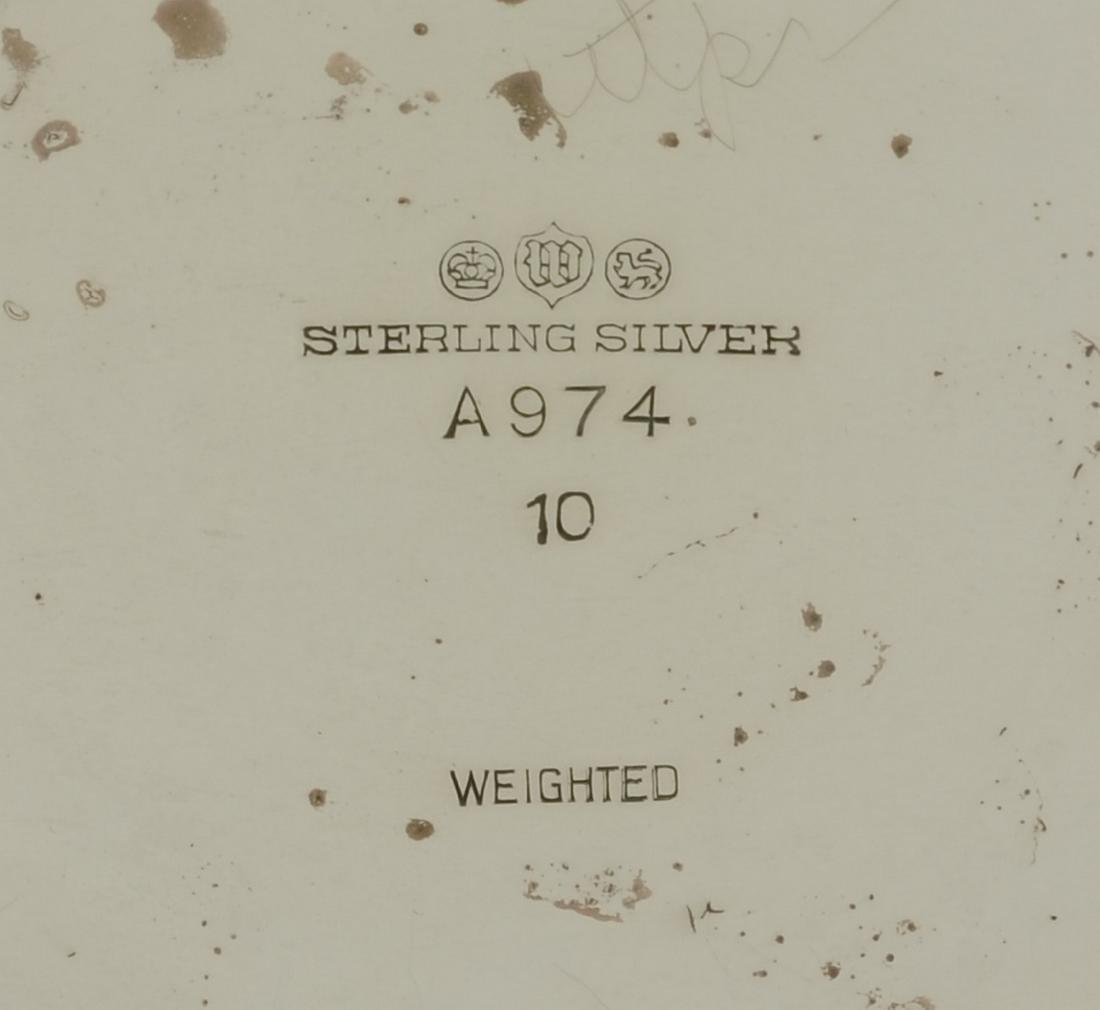 Early 20th c Watson Sterling Silver Dublin Pattern Vase - 3