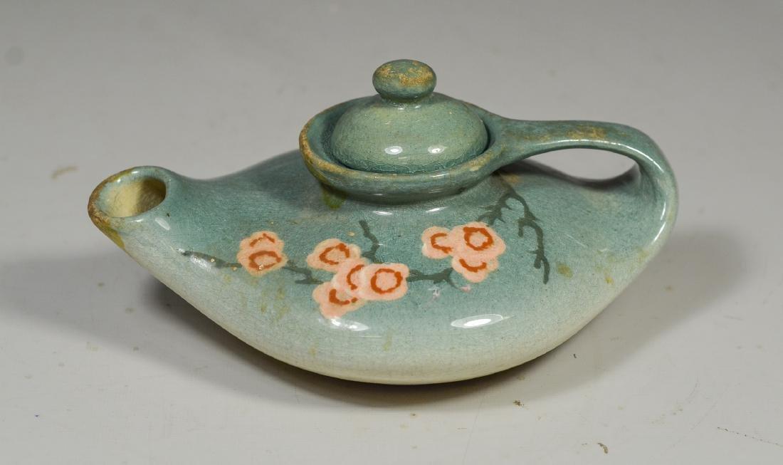 Owens glazed pottery small teapot