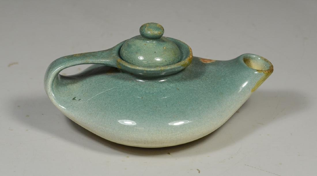 Owens glazed pottery small teapot - 2