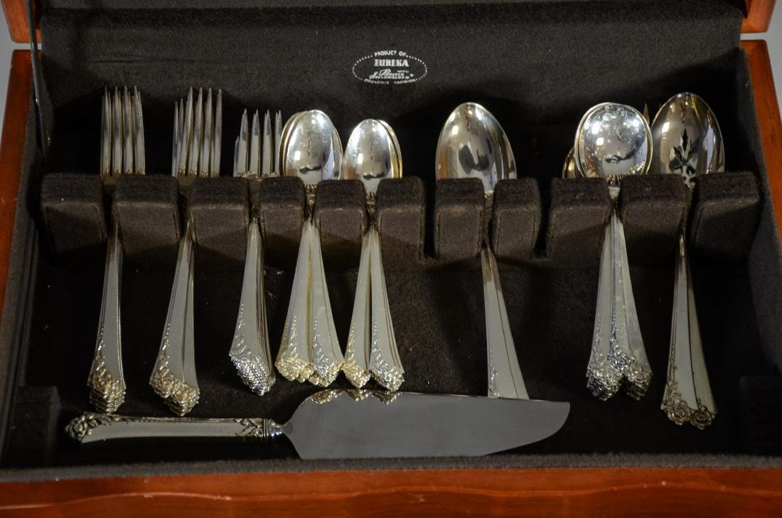 "80 pcs Oneida ""Damask Rose"" Sterling Silver Flatware - 3"
