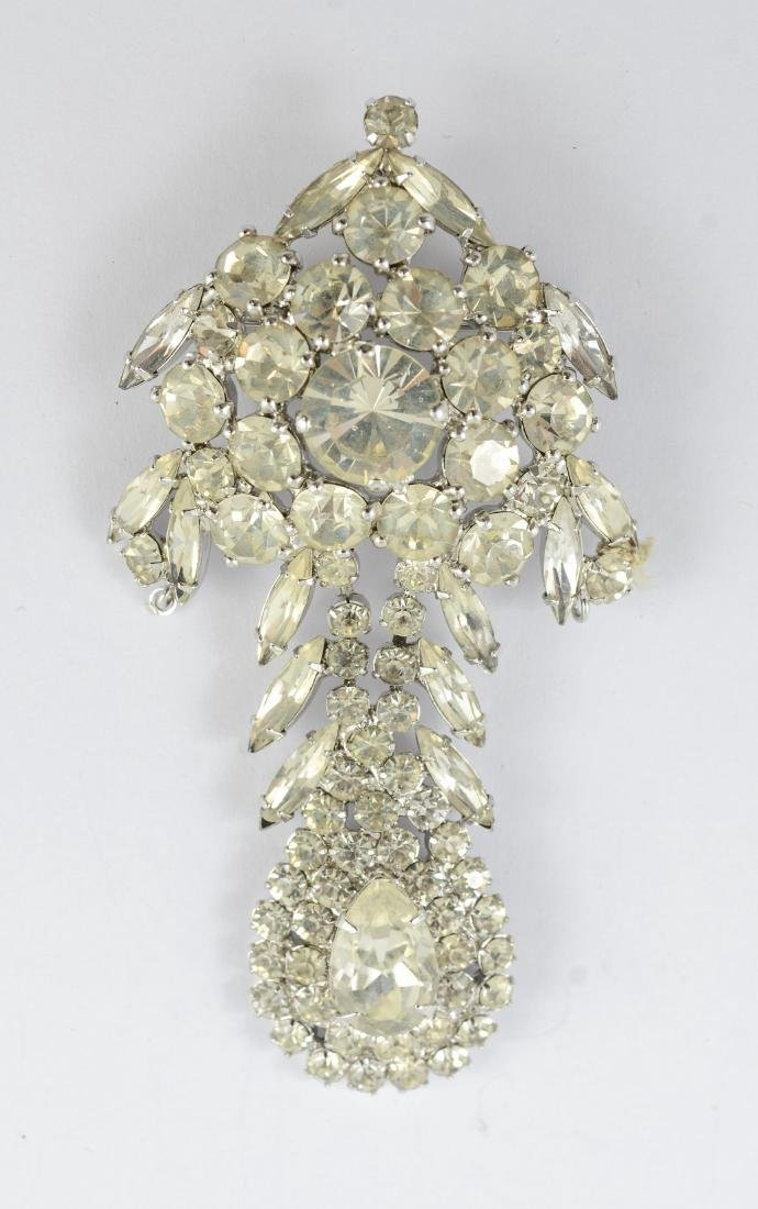 Weiss rhinestone pin (1940-50), 3 inches in length