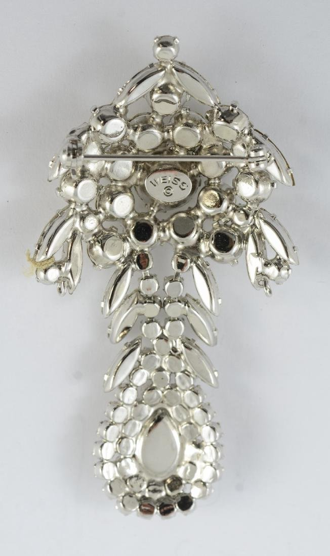 Weiss rhinestone pin (1940-50), 3 inches in length - 2