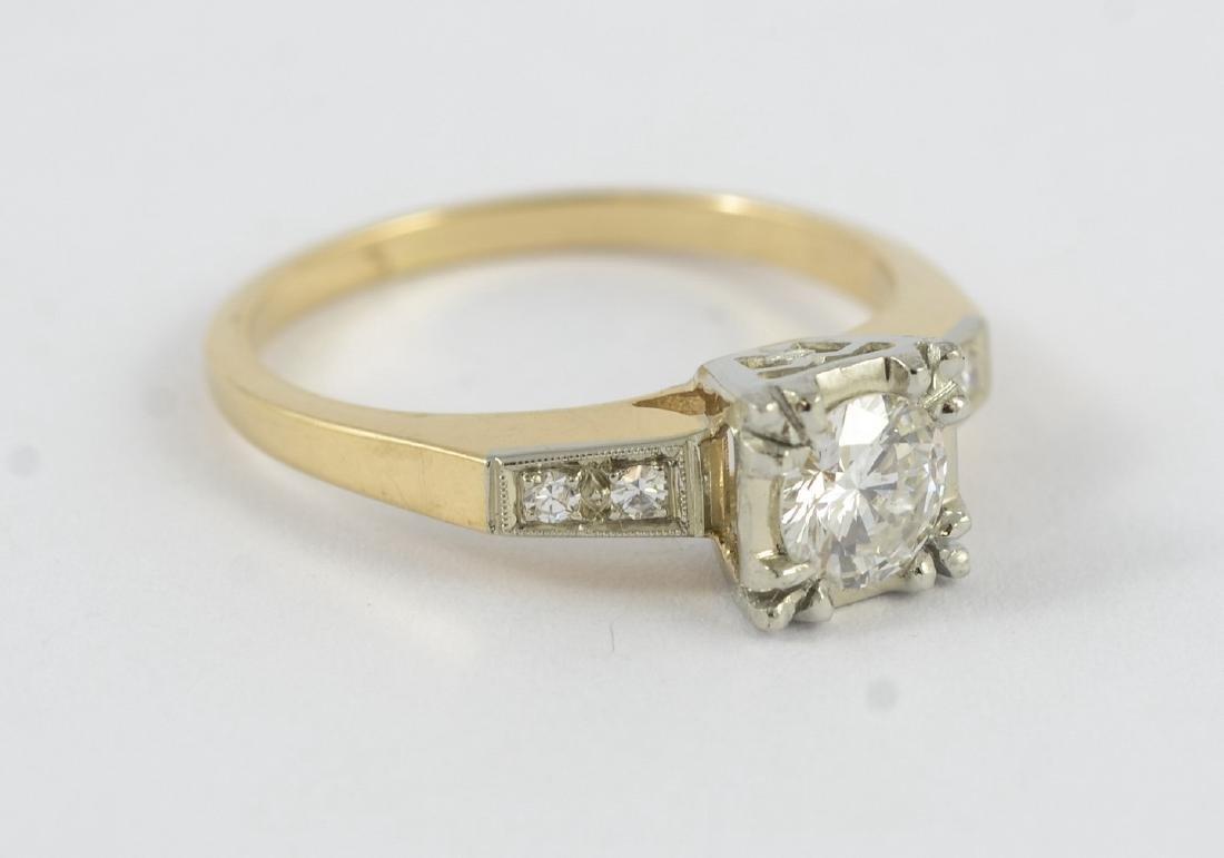14K gold 50's vintage engagement ring, sz 5 1/2