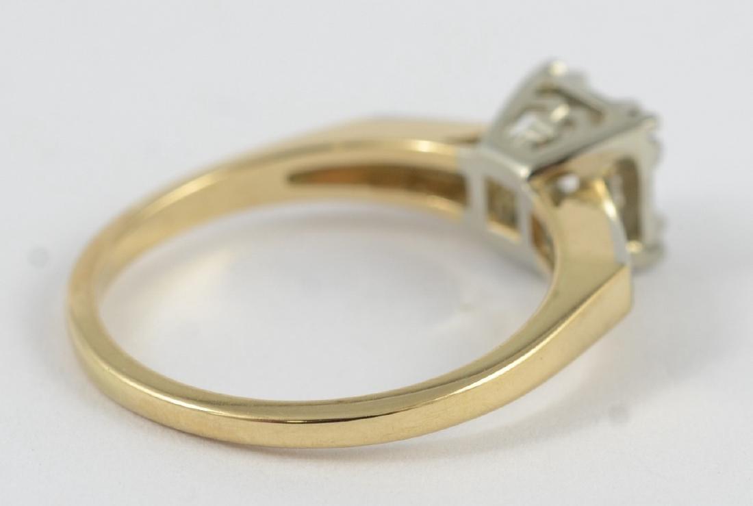 14K gold 50's vintage engagement ring, sz 5 1/2 - 2