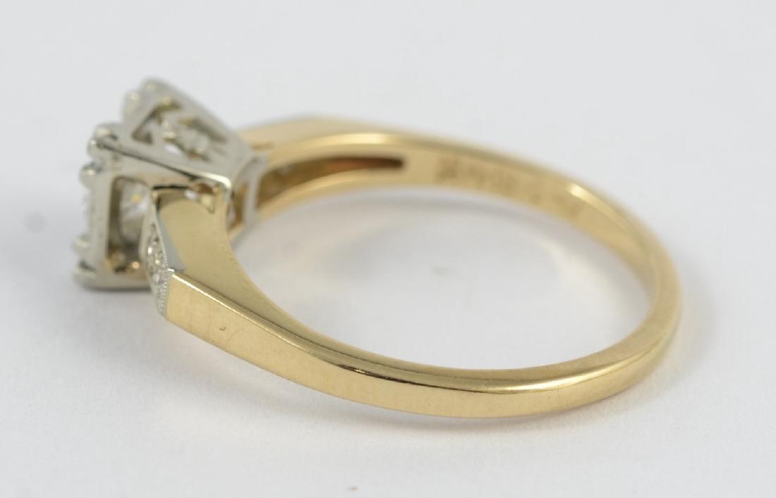 14K gold 50's vintage engagement ring, sz 5 1/2 - 3