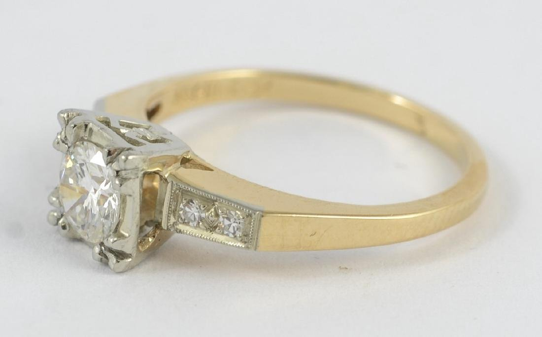 14K gold 50's vintage engagement ring, sz 5 1/2 - 4