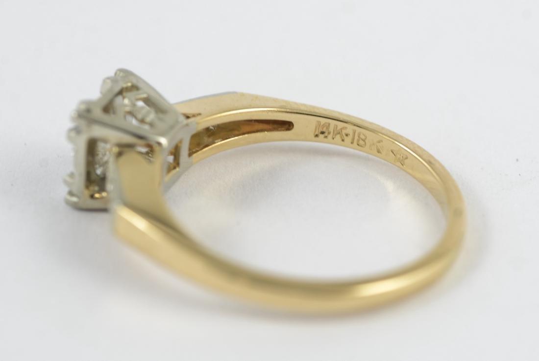 14K gold 50's vintage engagement ring, sz 5 1/2 - 5