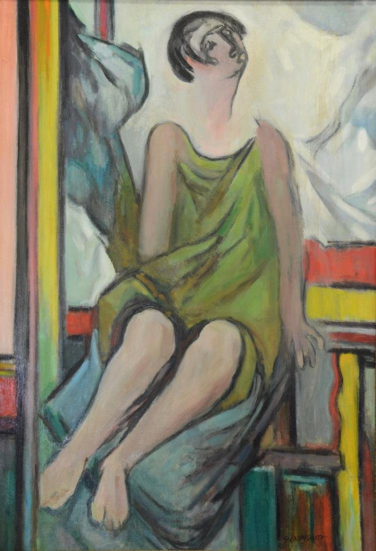 G Ralph Smith, American, Oil Painting of Lady