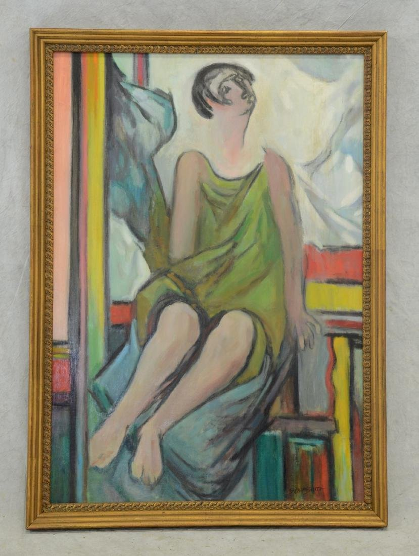 G Ralph Smith, American, Oil Painting of Lady - 2