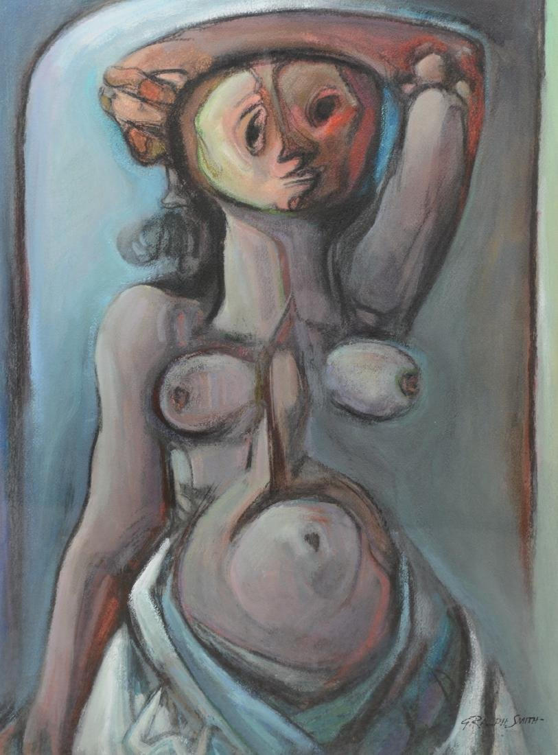 G Ralph Smith, American, Female Nude Gouache Painting
