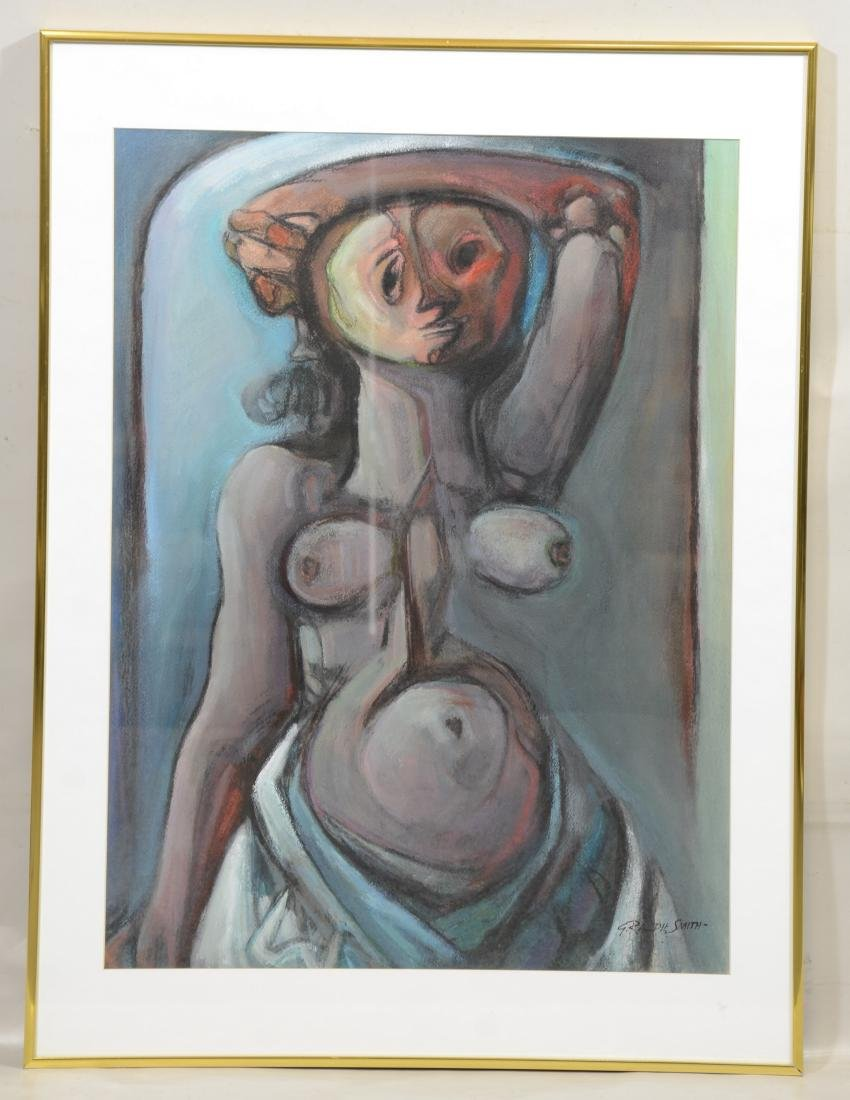 G Ralph Smith, American, Female Nude Gouache Painting - 2