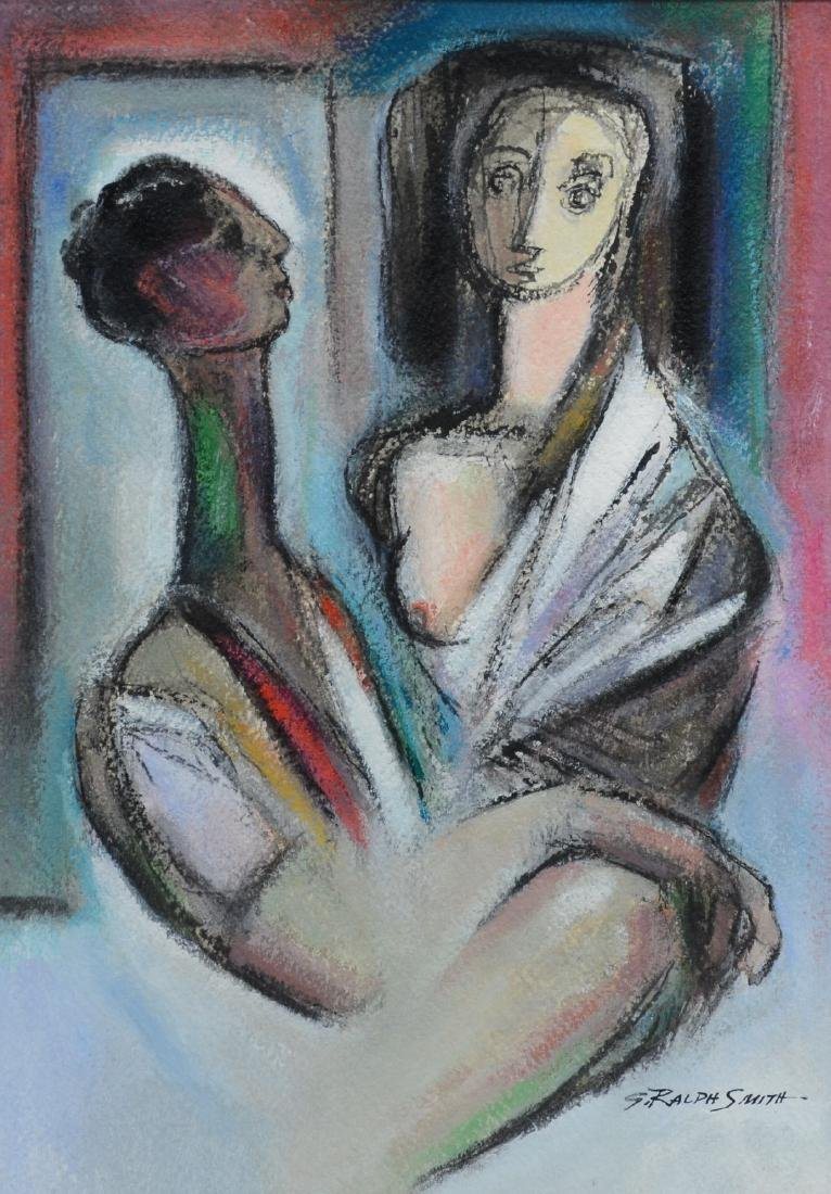 G Ralph Smith, American, Gouache Painting of Couple