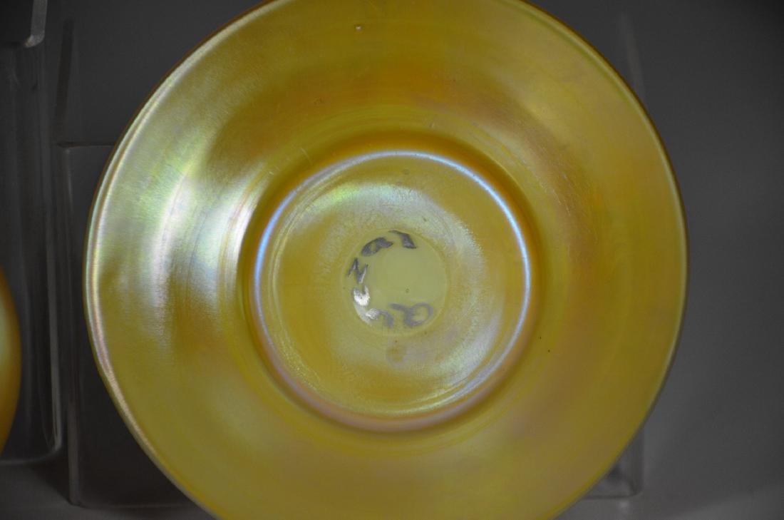 Quezal Gold Aurene Glass Bowl with Under Plate - 3
