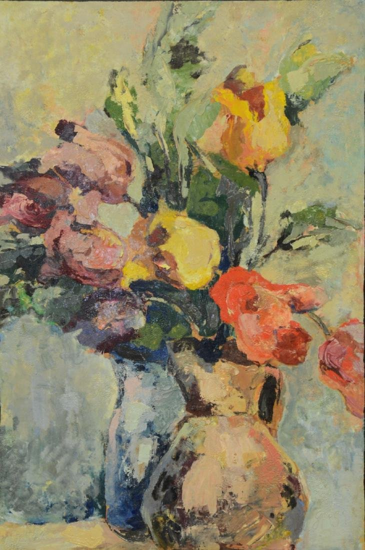 Edna Gass, American, Floral Still Life Painting