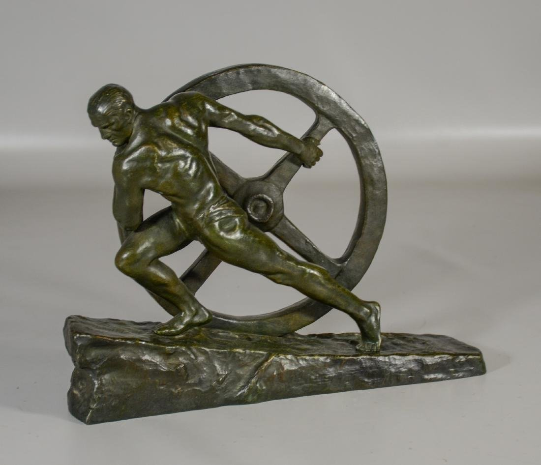 "After Pierre Le Faguays, French, Bronze, ""The Wheel"" - 2"