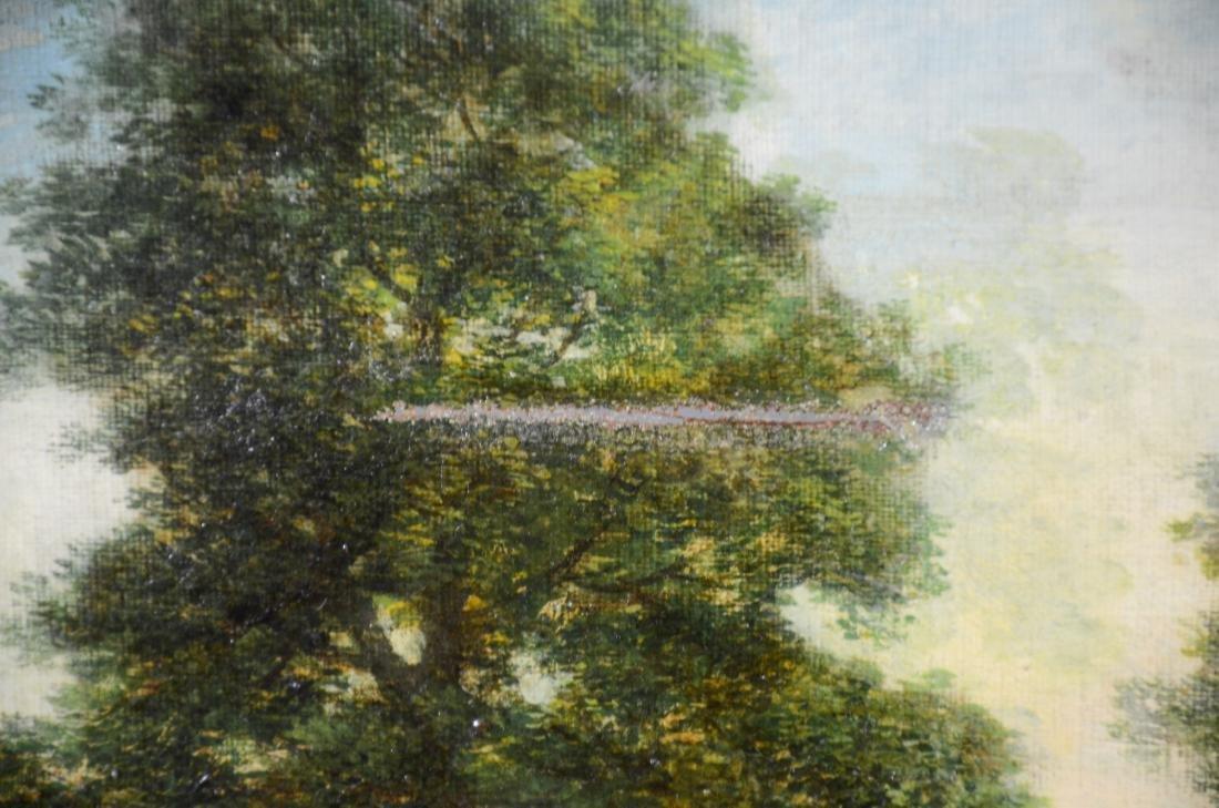 Italian School Shepherdess at Lake Oil on Canvas, - 4
