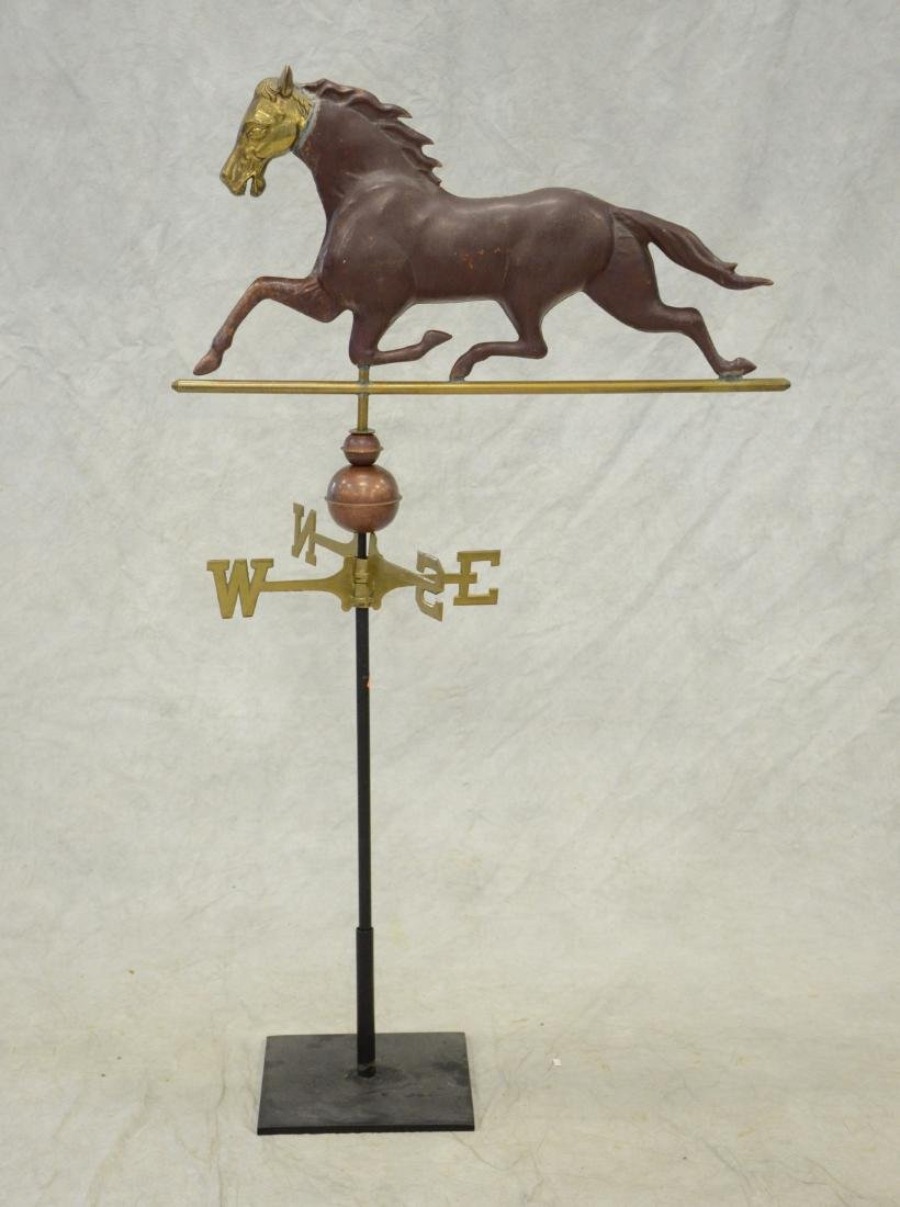 Copper, Brass and Iron Horse Weathervane