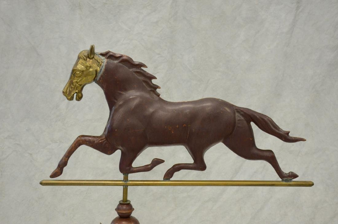 Copper, Brass and Iron Horse Weathervane - 2