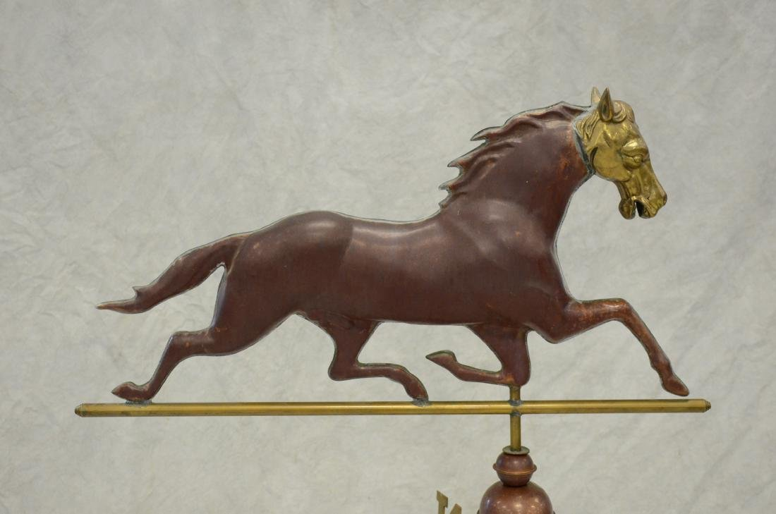 Copper, Brass and Iron Horse Weathervane - 3