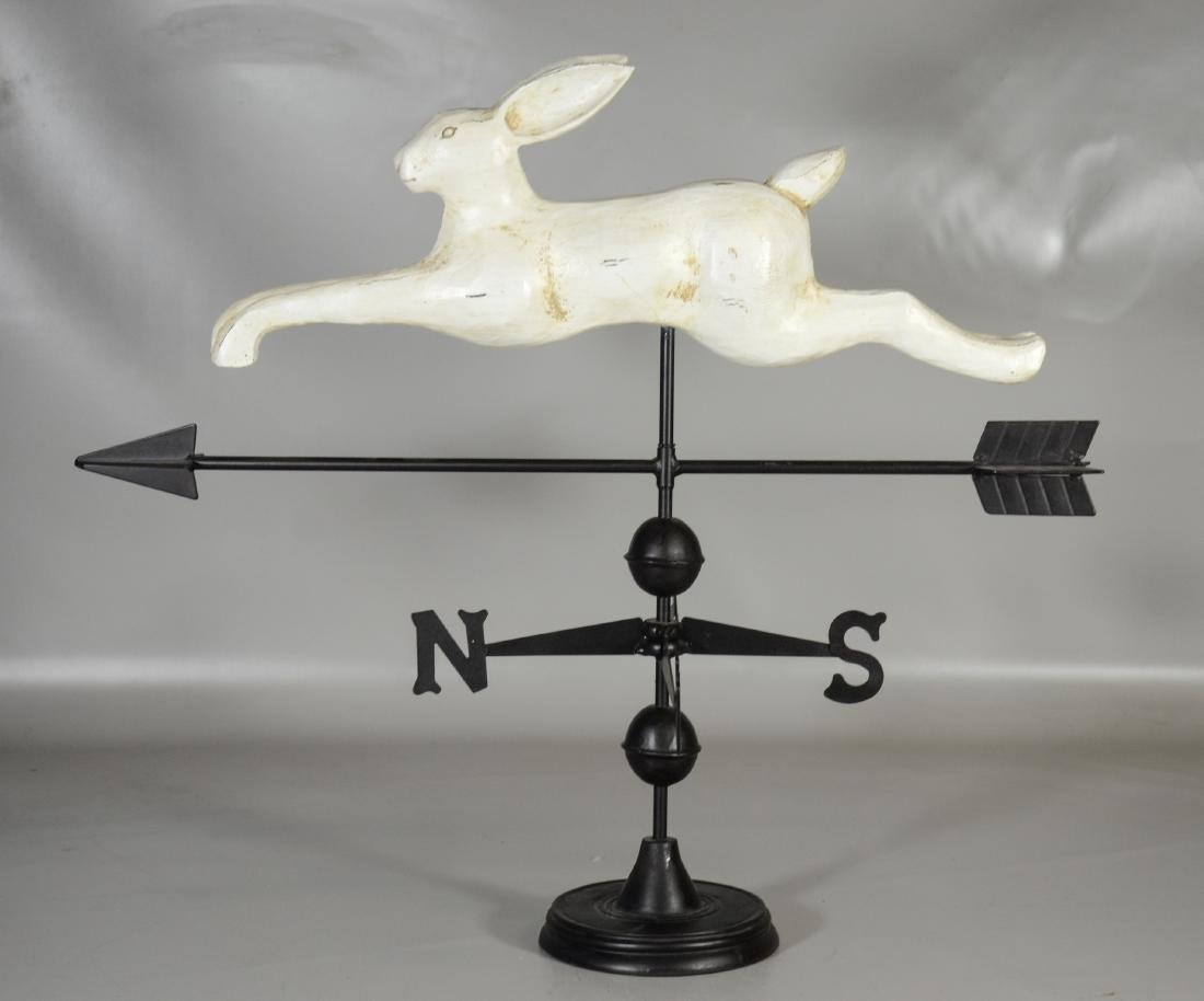 Folk Art Style Rabbit Weathervane,