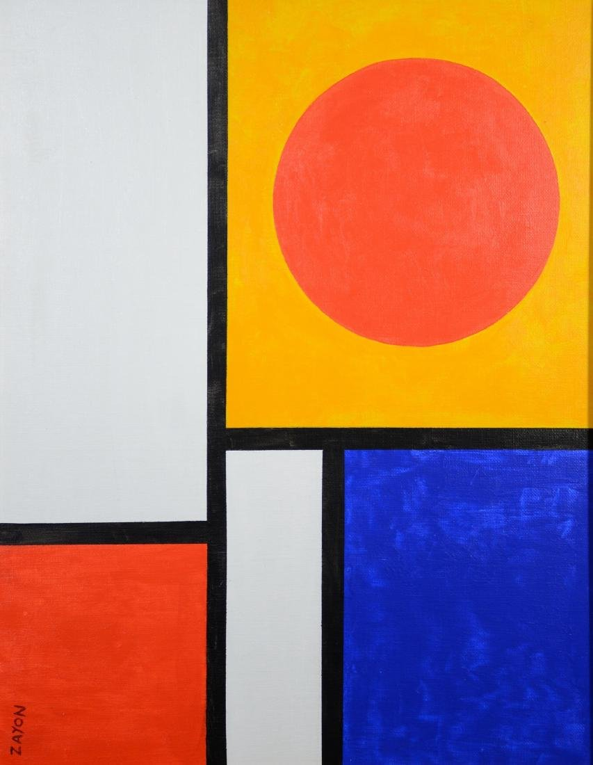 Seymour Zayon abstract oil on canvas board
