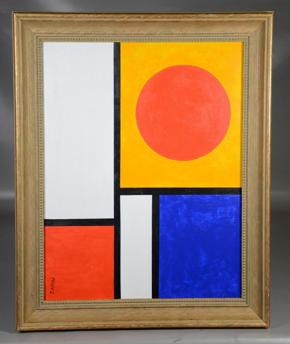 Seymour Zayon abstract oil on canvas board - 2