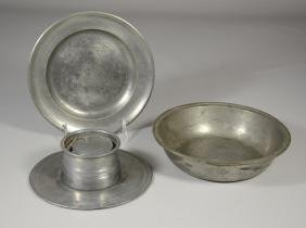3 Pieces of Early Pewter