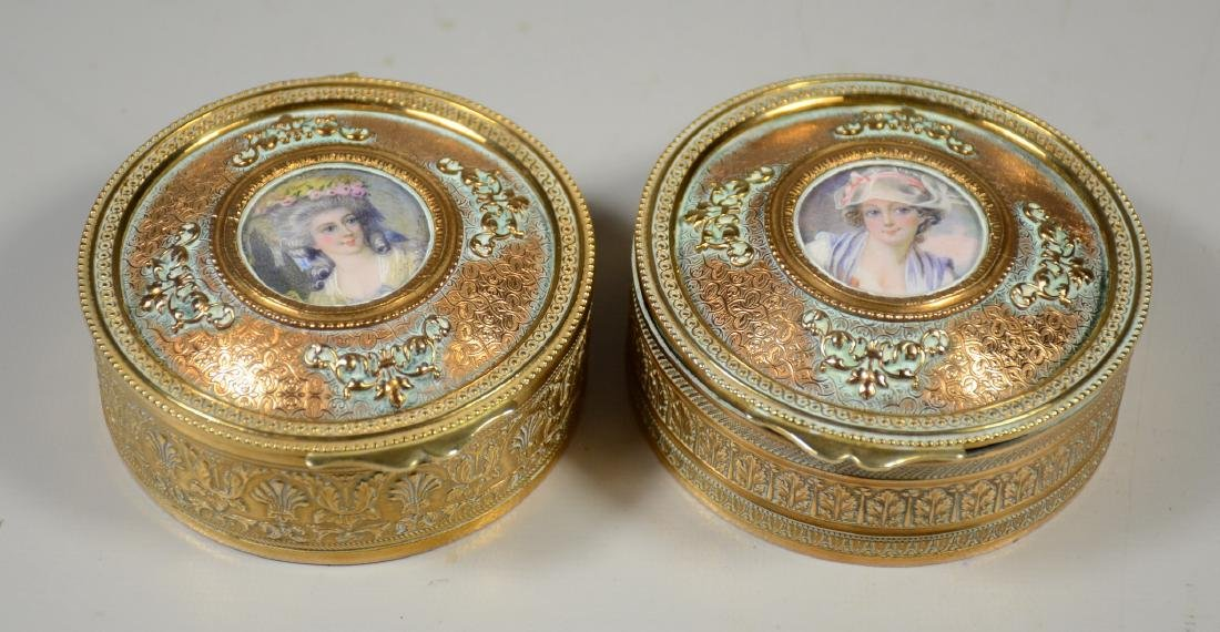 Two Stern Brothers portrait trinket boxes
