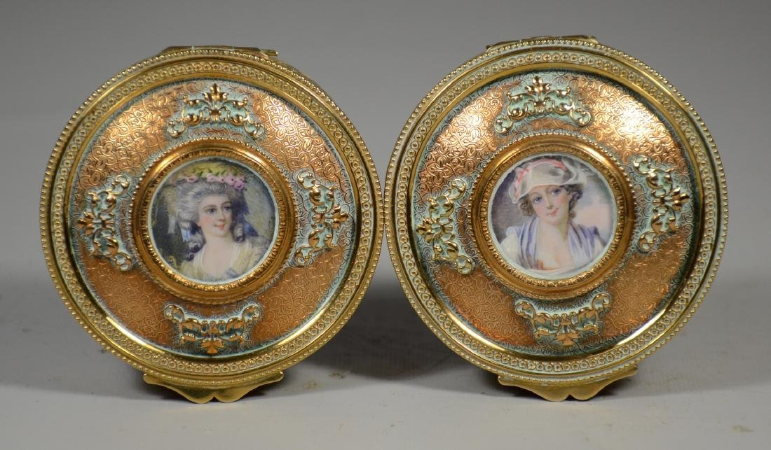 Two Stern Brothers portrait trinket boxes - 2