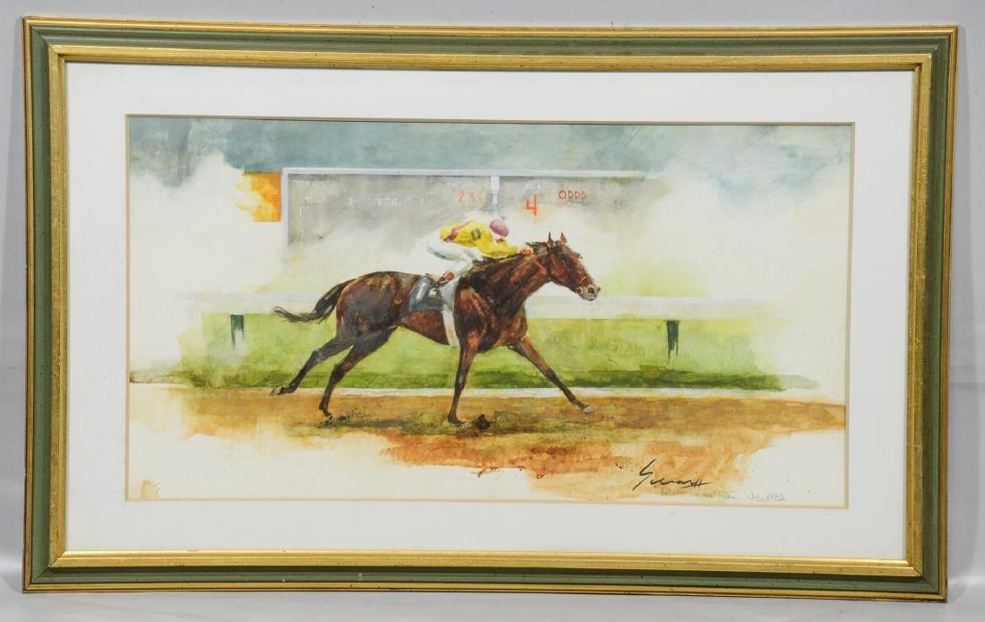 Ralph Scharff, watercolor, Delaware Park July 1982 - 2
