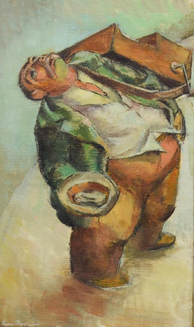 Iver Rose, oil on canvas board, Organ Grinder