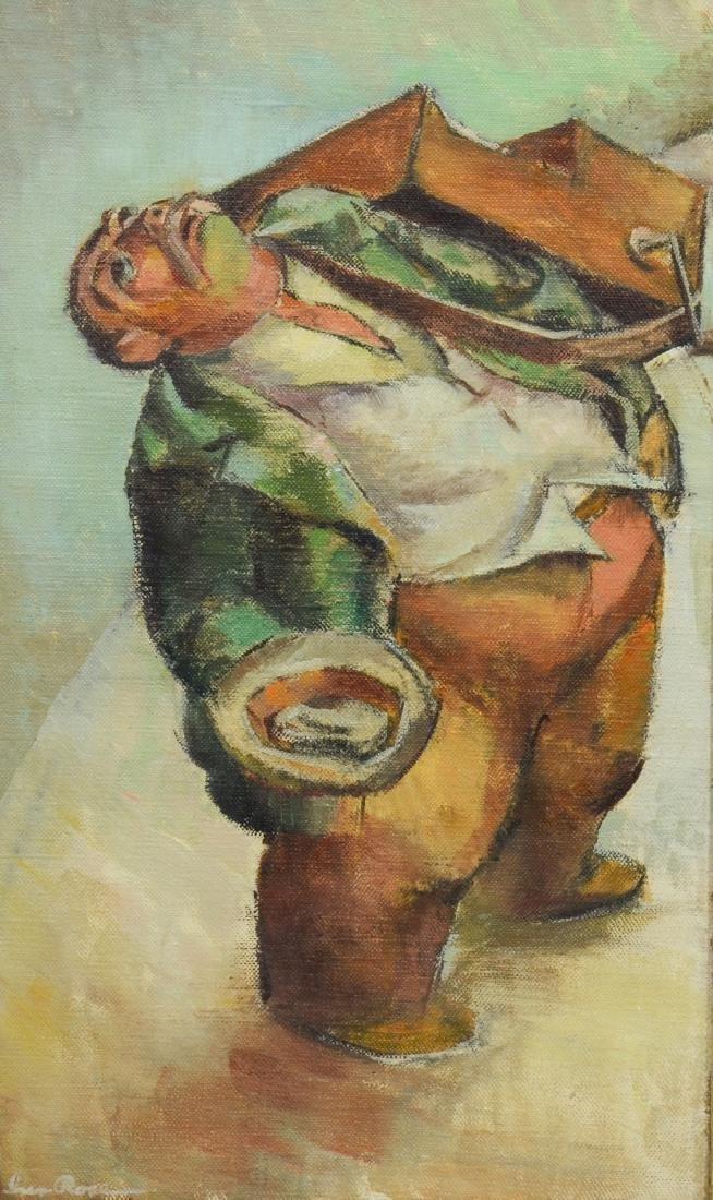 Iver Rose, oil on canvas board, Organ Grinder