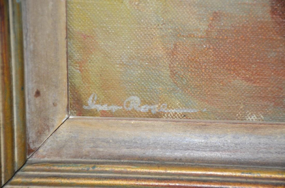 Iver Rose, oil on canvas board, Organ Grinder - 3