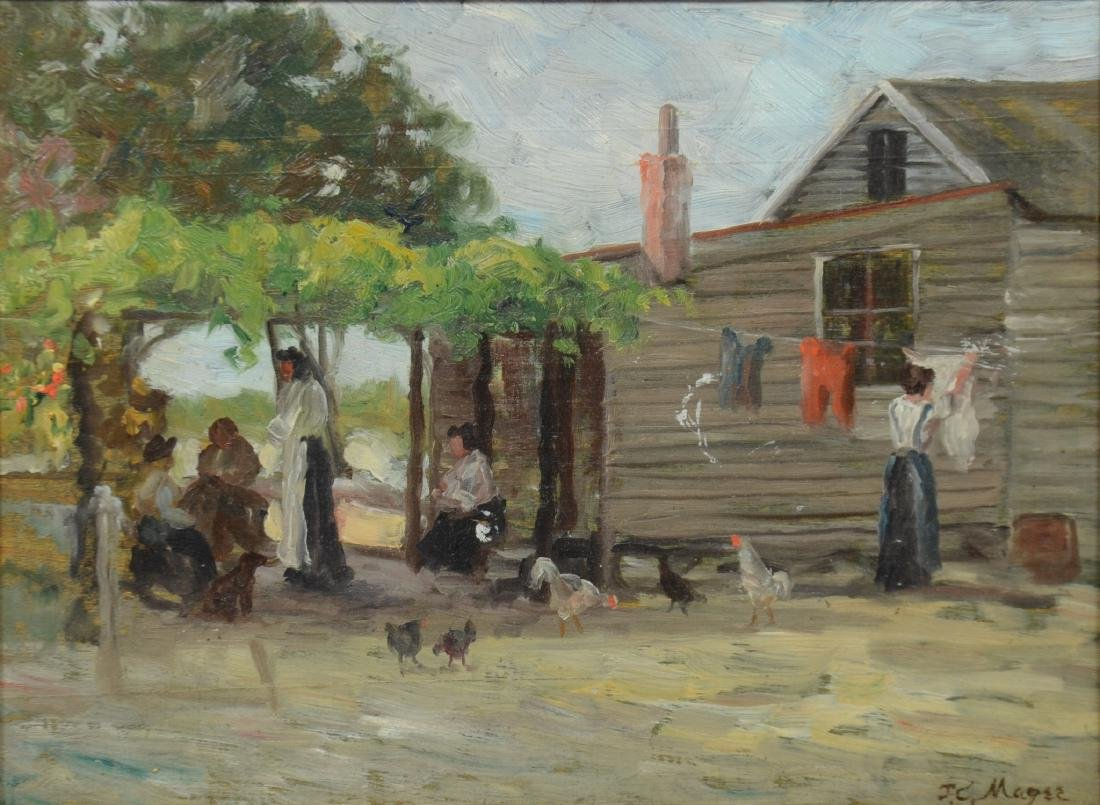 JC Magee, oil on board, Daily Chores