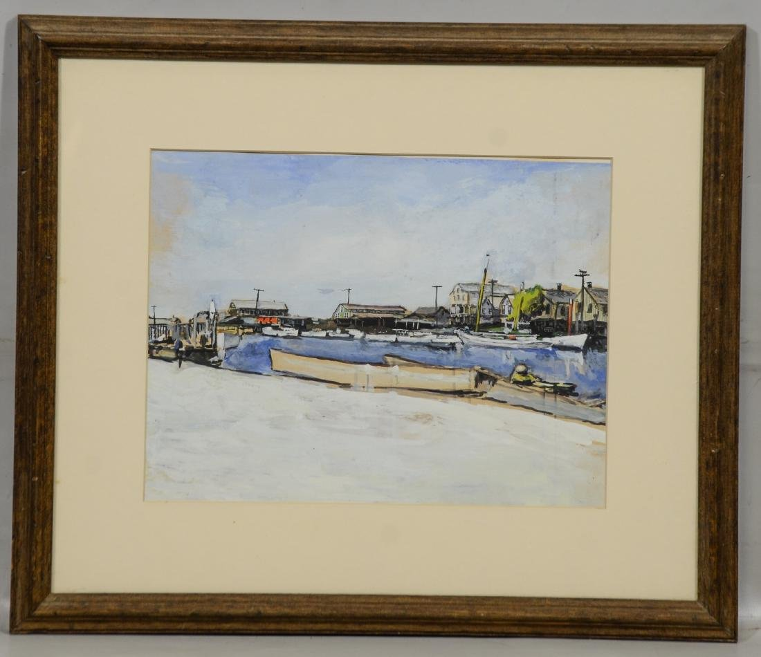 Jack Iowa Lewis, watercolor, Riverfront South Bowers - 2