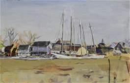 Jack Iowa Lewis watercolor Leipsic Delaware