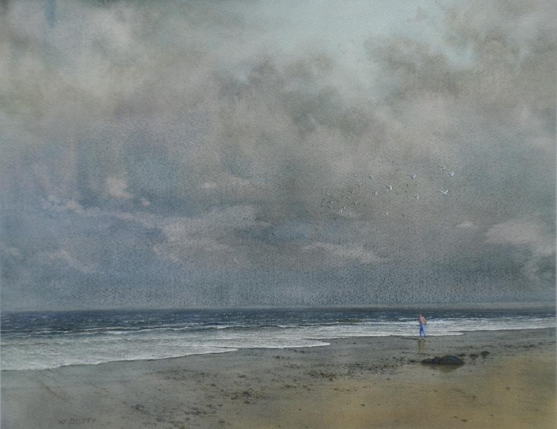 William P Duffy, watercolor, After the Storm