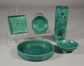 5 Pcs Gustavsberg Argenta Swedish Pottery