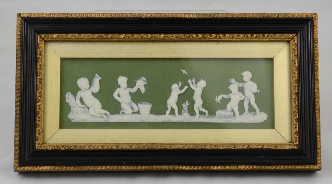 Wedgwood Green Jasperware Porcelain Plaque